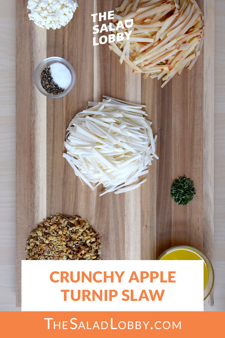 Crunchy Apple Turnip Slaw