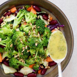 Salad Bar Salad Featuring Broccoli