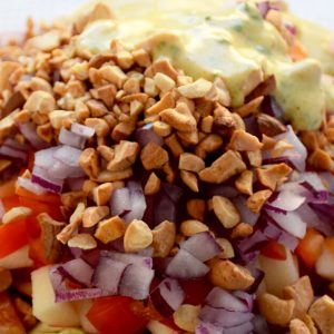Broccoli Salad with Curry Yogurt Dressing