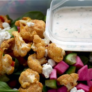 Cauliflower Shawarma Salad with Tahini Dressing
