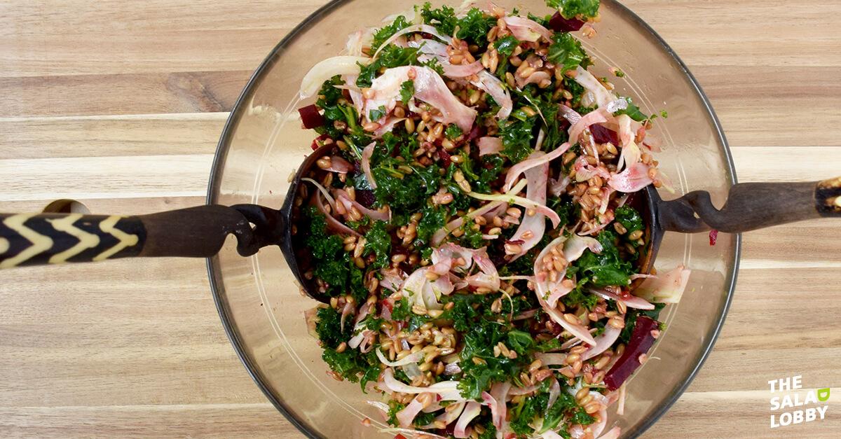 How to make salad - Farro Salad