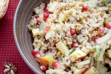 Warm Brown Rice Salad