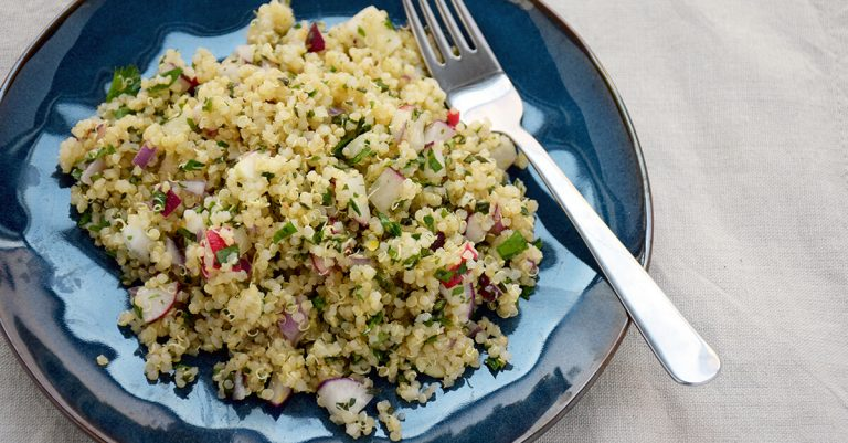 Quinoa Salad with Herbs and Radishes